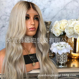 Ombre Grey Glueless Lace Front Body Wave Style 150% Denisty with Baby Hair for Black Women/Free Shipping