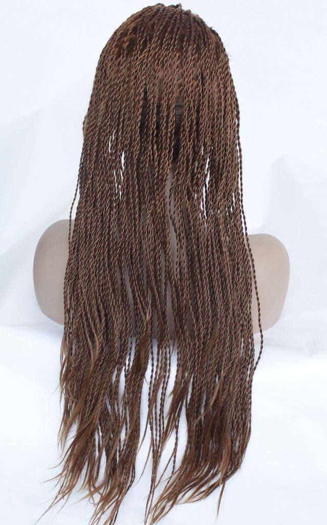 Long Straight Heat Resistant Hair Box Braids Women Wigs for Black Women Free Part/Free Shipping