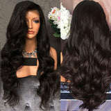 Female Black Long Curls Wig-Brazilian Wig Hair Body Wave Black Hair Wigs