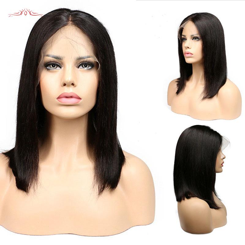 Glueless Middle Length Straight Lace Front High Temperature Fibre Wigs Remy Wigs