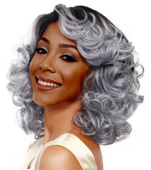 Fluffy Wave Curl Medium Wig/Free Shipping