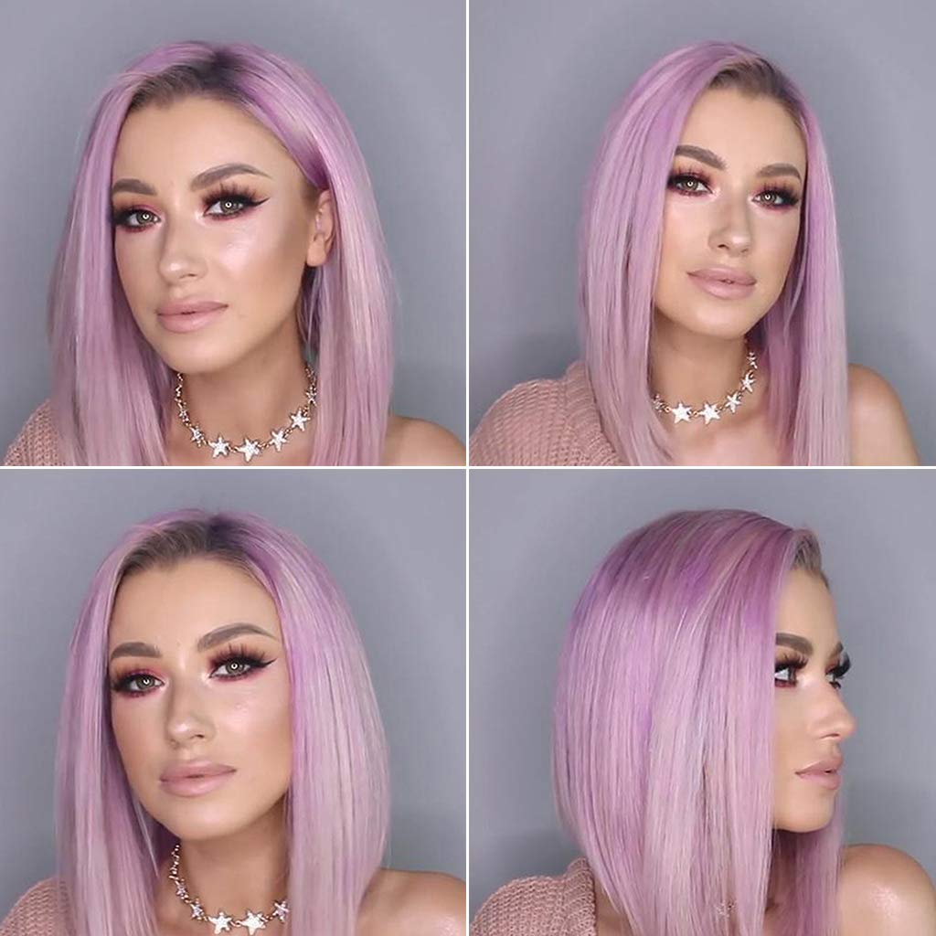 Glamorous Straight Purple Wig/Free Shipping
