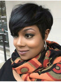 Wigsfox 10  Short Bob Wigs For African American Women The Same As The Hairstyle In The Picture
