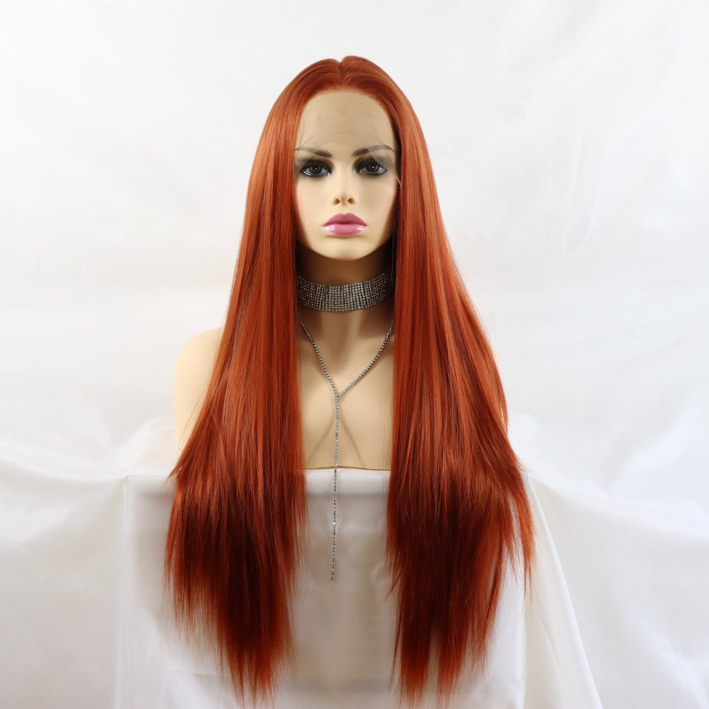 Ladiesstar Long Straight Heat Resistant Fiber Honey Blonde Synthetic Lace Front Wig Natural Looking Lace Wigs For Women