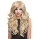 65cm Sexy Golden Blond Long Big Wave Mix Full Volume Curly Wavy Wig