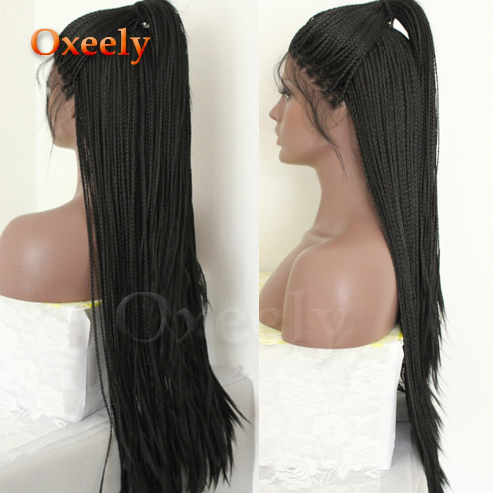 Black Color Micro Braids with Baby Hair Free Part Heat Resistant for Women