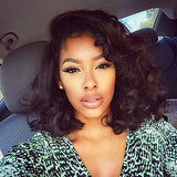 Loose Wave Style Lace Front Wig Black Natural Black Synthetic Hair