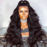 ☀Ready Stock☀Brazilian Remy Human Hair Body Wave Lace Front Human Hair Wigs