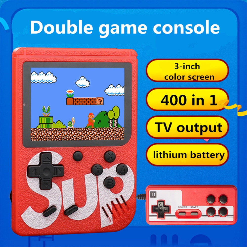 "3.0"" Screen Size Built In 400 Games Retro Video Game Consoles Box For Tv Video Game/Free Shipping"