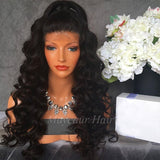 Synthetic Lace Front Wig Loose Curly With Baby Hair For Women/Free Shipping