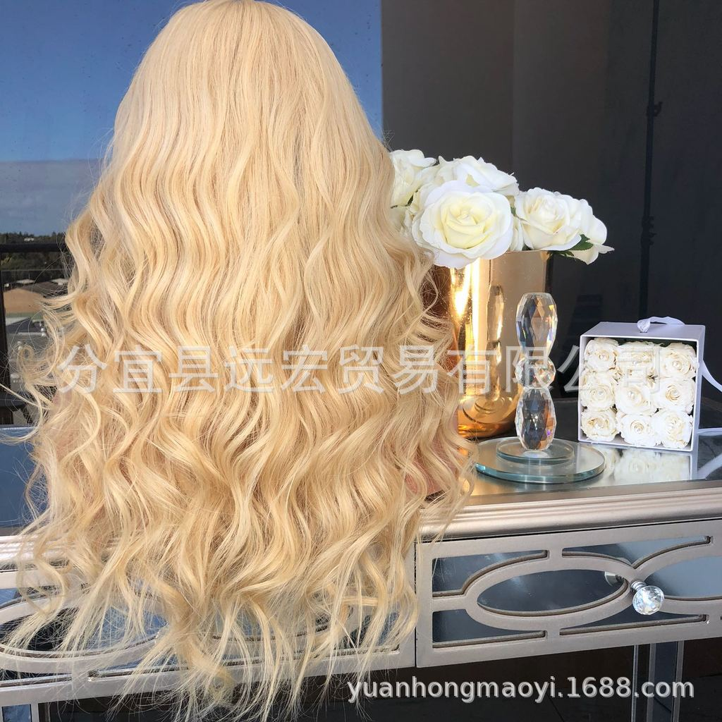 Blonde woman Lace Front Wigs
