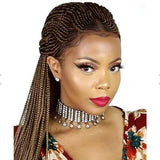 Popular Lace Frontal African Braided Wig