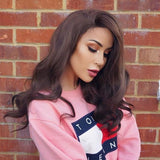Brunette Locks Synthetic Lace Front Wig/Free Shipping