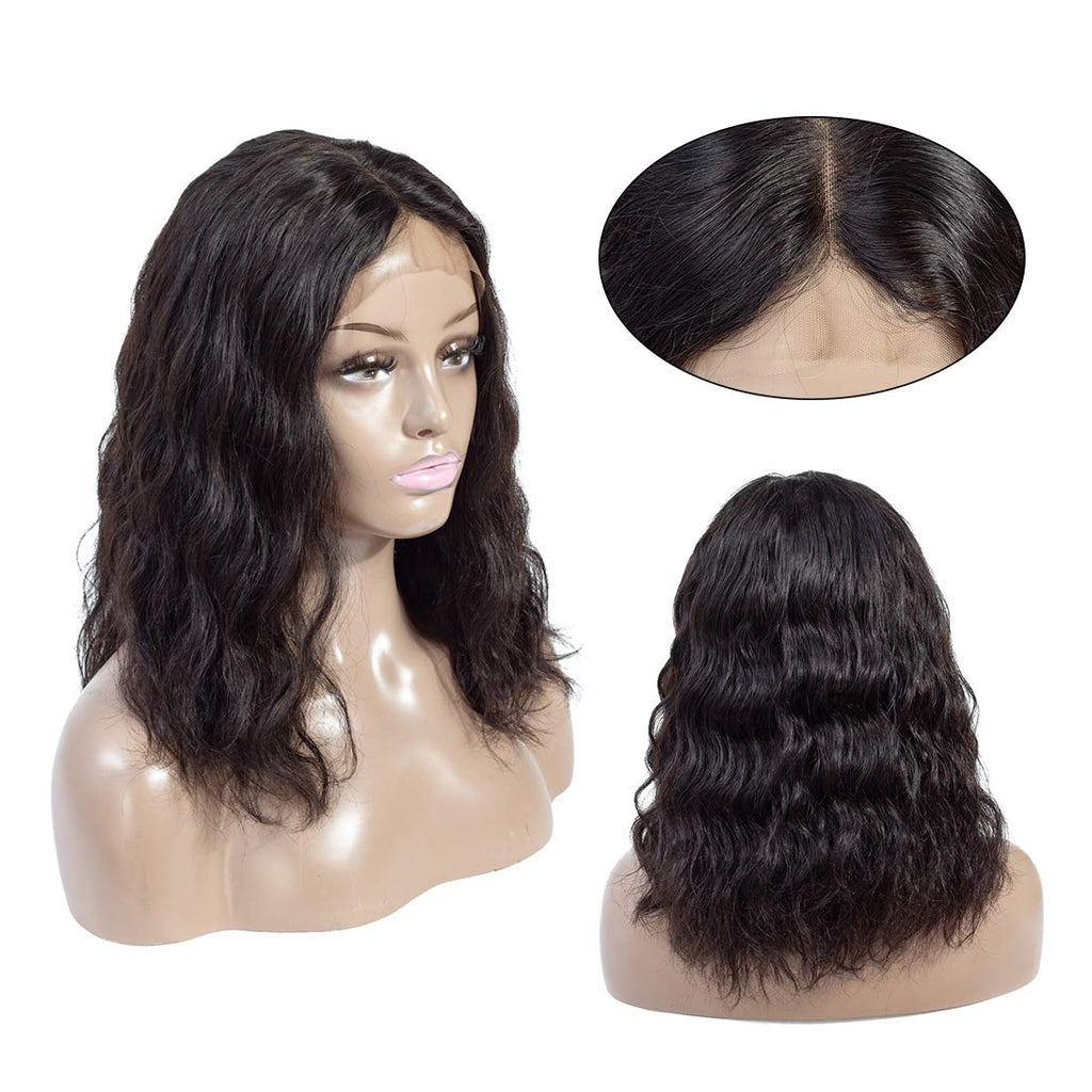 Natural Wave Short Bob Style 13?¨¢4 Lace Front Wigs For Black Women 180% Density