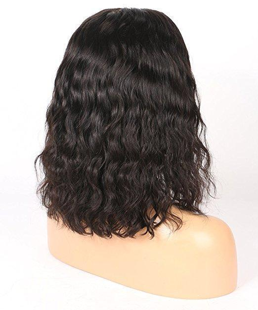 Hair Brazilian Virgin Human Hair Lace Front Wigs Glueless Short Bob Hair Wigs