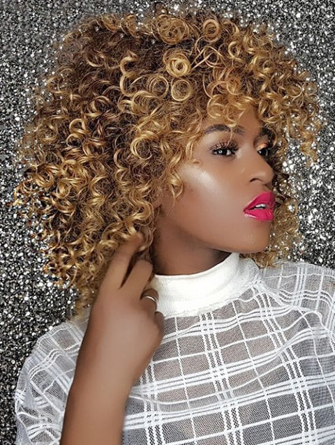 Foxwigs Lace Front Wigs Long Shaggy Colormix Afro Kinky Curly Hair Wig/Free Shipping