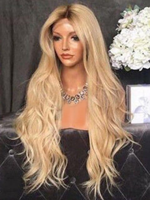 Foxwigs Lace Front Wigs Center Part Body Wave Hair Long Wig/Free Shipping