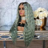 Ombre Balayage Medium Brown Lace Front Wigs For Wedding/Free Shipping