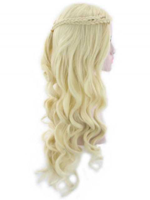 Foxwigs Lace Front Wigs Long Braid Body Wave Hair Wig