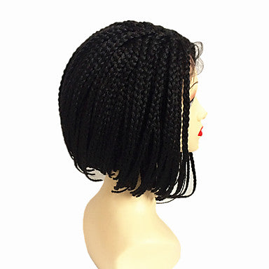 100% Kanekalon Hair / Braided Wig Black Wig Short / Medium Length Natural Wigs