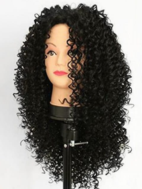 Foxwigs Lace Front Wigs Long Hair Jerry Curl Free Part Wig with Lace Front/Free Shipping
