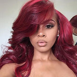 Synthetic Lace Front Wig Loose Wave Style Lace Front Wig Red
