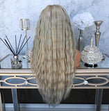 Blonde Long Wavy Hair Lace Front Wigs/Free Shipping