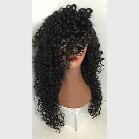 Long Side Part Kinky Curly Synthetic Wig