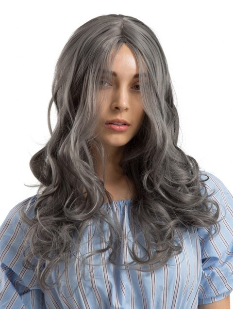 Long Length Center Parting Wavy Party Synthetic Wig