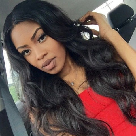 Ladystar Lace Front Wigs Dyed Perm Middle Part Body Wave Long Wig