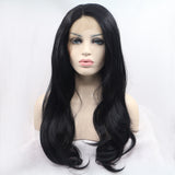 Fantasy Beauty 180% Density Wave Synthetic Lace Front Wig Glueless Heat Resistant Free Parting For African American Wom