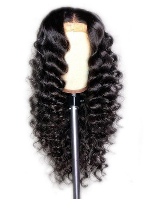Ladystar Lace Front Wigs Synthetic Long Center Parting Loose Wave Wig
