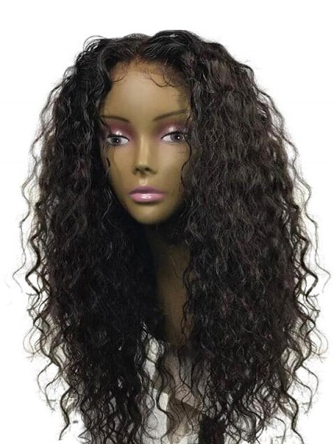 Ladystar Lace Front Wigs Middle Part Long Water Wave Synthetic Wig