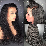 Curly Brazilian Virgin Hair Full Lace Wig with Baby Hair(10inch with 150 density Lace Front Wig)
