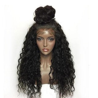 Black Women Curly Wig Sexy Lace Wigs Human Synthetic Wavy Fashion Lace Front Wig/Free Shipping