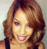 Wigsfox 12  Bob Wigs For African American Women The Same As The Hairstyle In The Picture