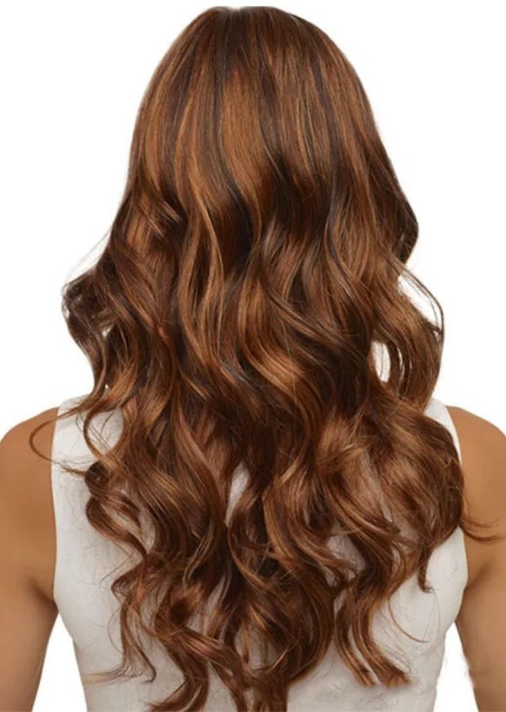 Long Curly Wavy Wig for Women  Natural Looking Loose Synthetic Hair/Free Shipping