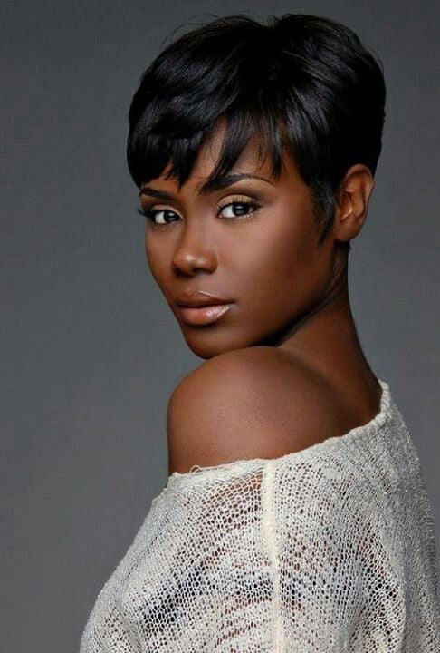 Wigsfox 8  Short Wigs For African American Women The Same As The Hairstyle In The Picture
