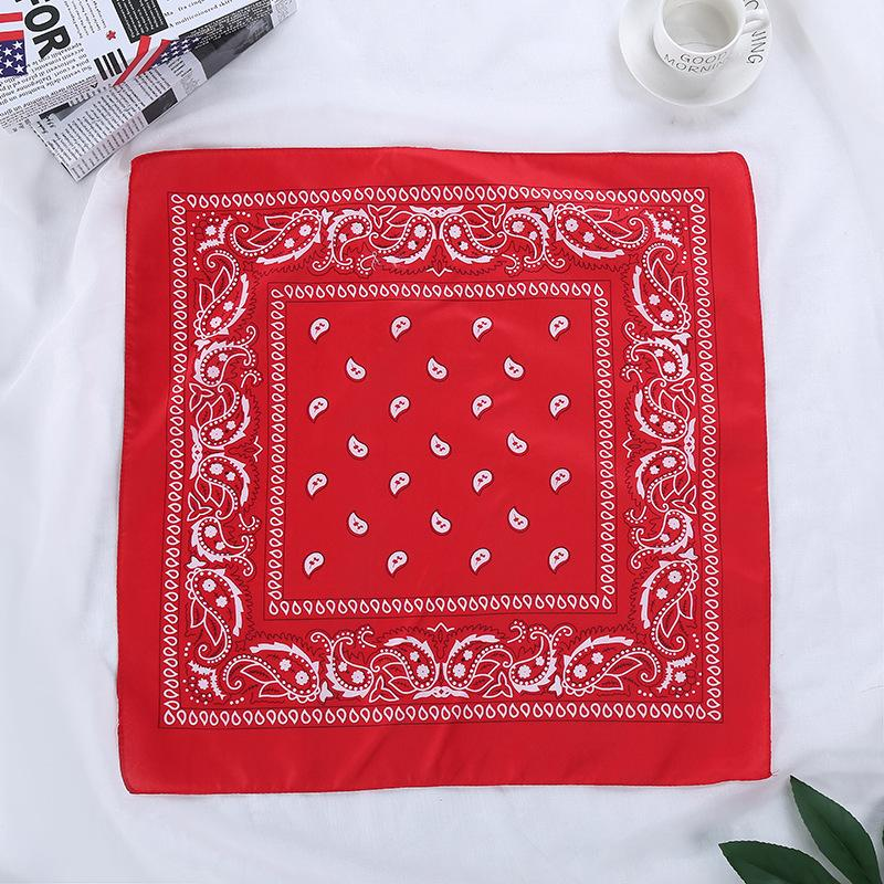 A Dozen 12 Pcs Cotton Paisley Print Head Scarf Multifunctional Headwear Cowboy Bandanas Headwrap Wristband/Free Shipping