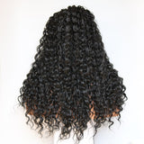 Fantasy Beauty 180 Density Long Loose Curl Hair Wigs Black Color Heat Resistant Synthetic Lace Front Wig for Fashion Girls/Free Shipping