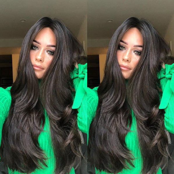 Women Fashion Black Wave Wig Lace Front Wave Long Wigs/Free Shipping