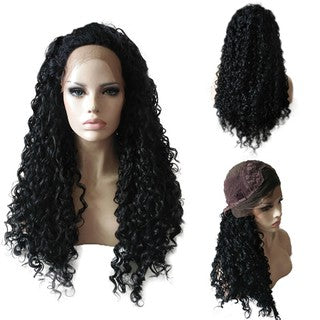 Black Women Curly Wig Sexy Lace Wigs Human Synthetic Wavy Fashion Lace Front Wig