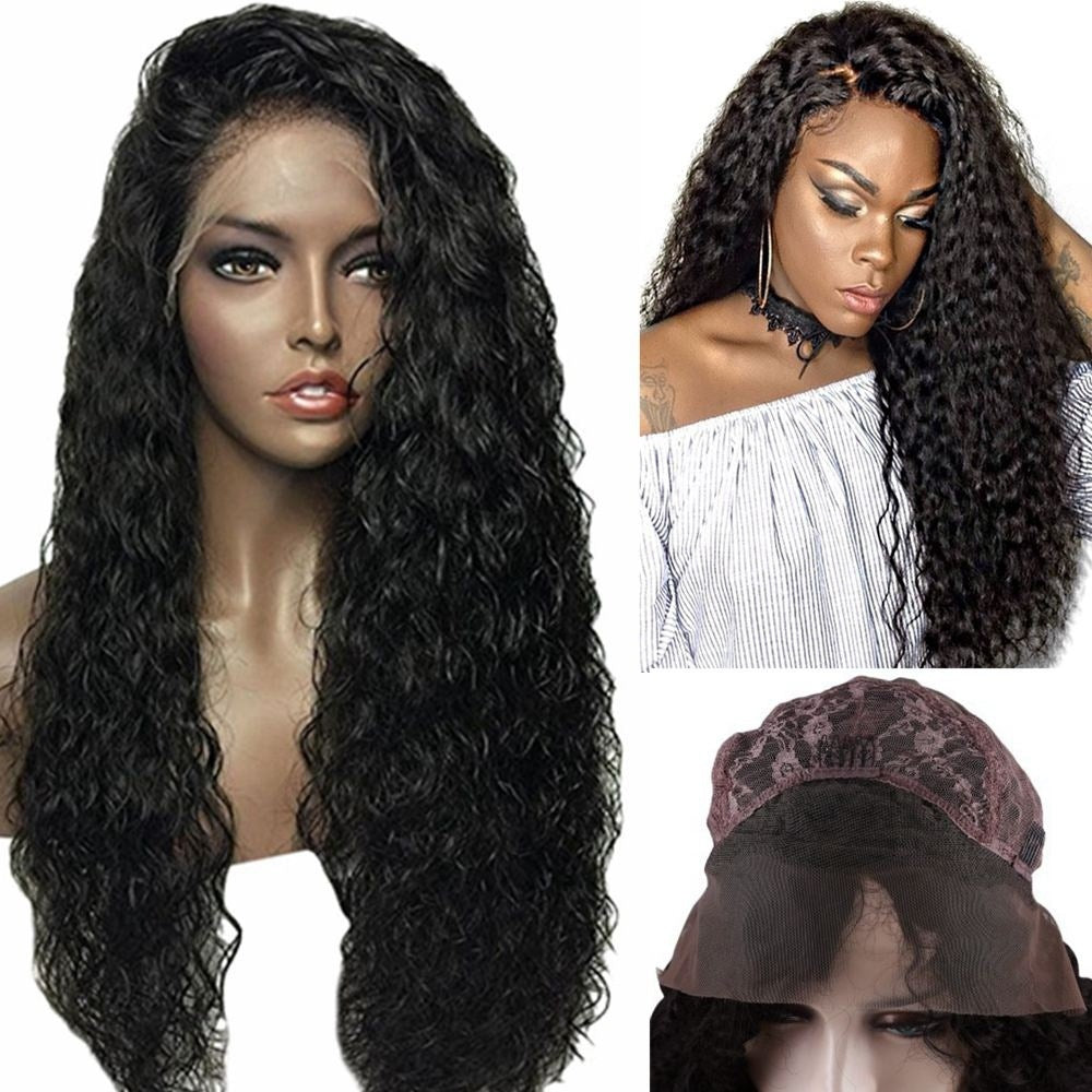 Loose Curly Long Lace Front Wig 180% Density Synthetic Hair Wigs With Baby Hair