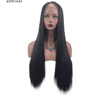 Heat Resistant Synthetic Lace Front Ombre Wigs Long Straight Bob Black Pink Wigs/Free Shipping