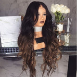 Long Curly Hair with Large Wave Gradient Color Chemical Fiber Wig