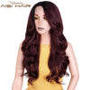 Ombre Dark Red Long Wavy Wig Perucas front lace Hair for Black Women