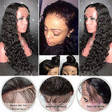 Curly Brazilian Wigs Glueless Wigs with Bleached Knots Lace Front Wigs with Baby Hair