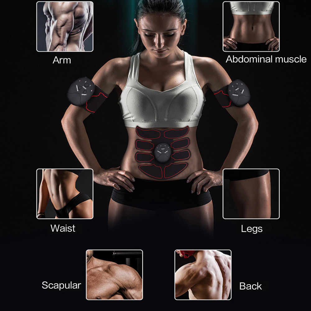 Abdominal Muscle Training Stimulator Device Wireless EMS Belt Gym Professinal Body Slimming Massager Home Fitness Beauty Gear/Free Shipping