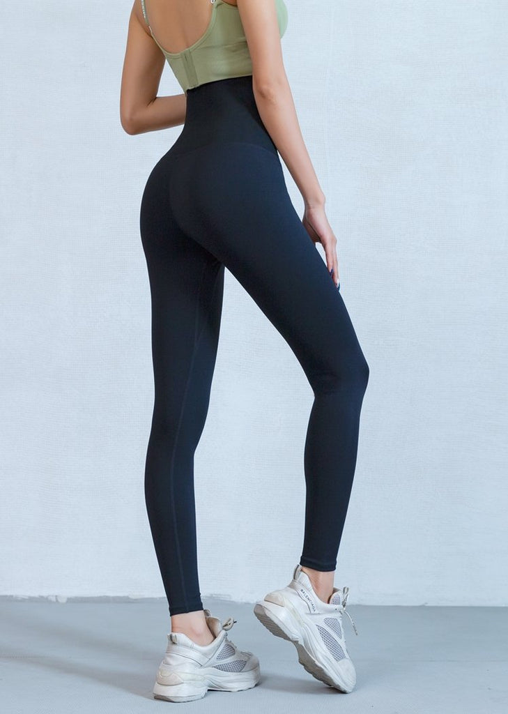 Women Solid Seamless High Waisted Body Shaping Yoga Pants Butt Lifting Leggings/Free Shipping