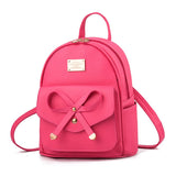Women Fashion Girls Bowknot Cute PU Leather Backpack Mini Backpack Purse/Free Shipping